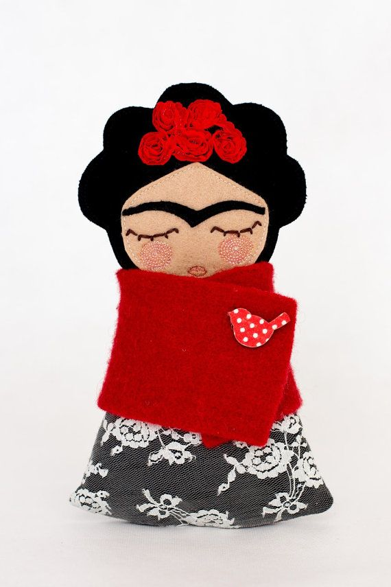 Frida Kahlo Doll by Guadalupecreations on Etsy