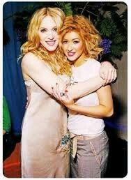 Madonna and young Christina Aguilera