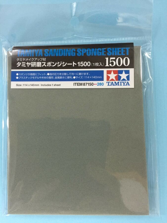 Details About Tamiya 5mm Sanding Sponge Sheet Grit Size 180 3000 Metal Wood Plastic Model Jp Sanding Sponges Plastic Models