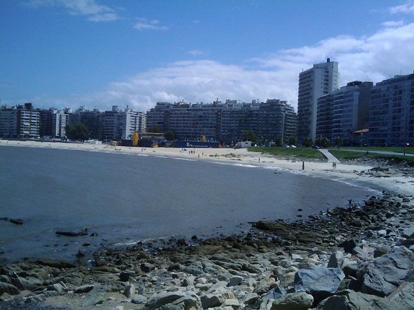 Montevideo, Uruguay - this is the rambla along Pocitos beach that I LOVE to run or walk regulary. It is just gorgeous!!!