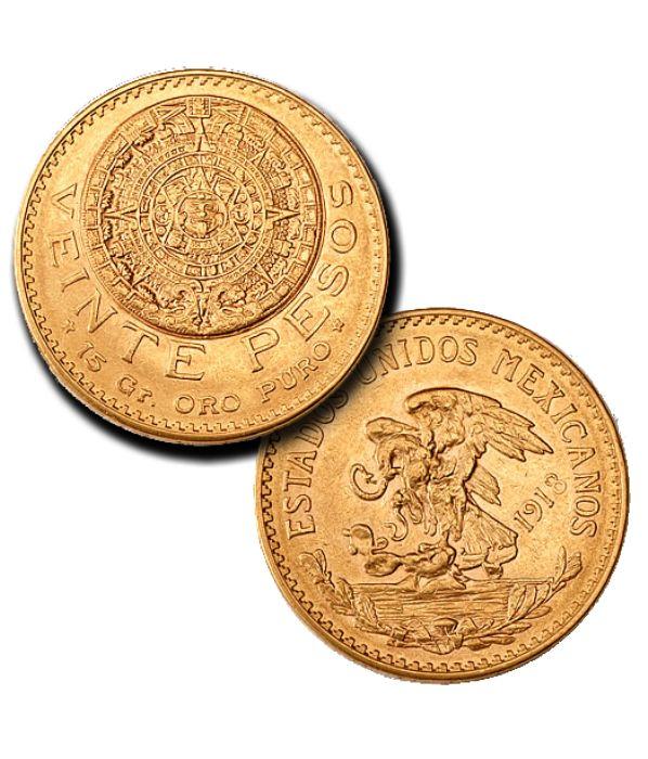 Mexican Gold 20 Pesos http://www.gainesvillecoins.com/
