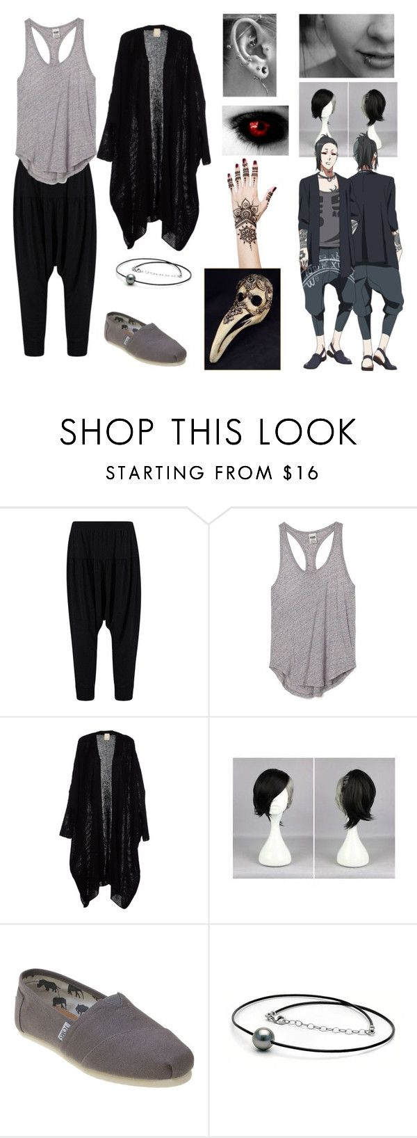 """Uta (Tokyo Ghoul)"" by fallenangelsstillsing ❤ liked on Polyvore featuring Victoria's Secret PINK and TOMS"