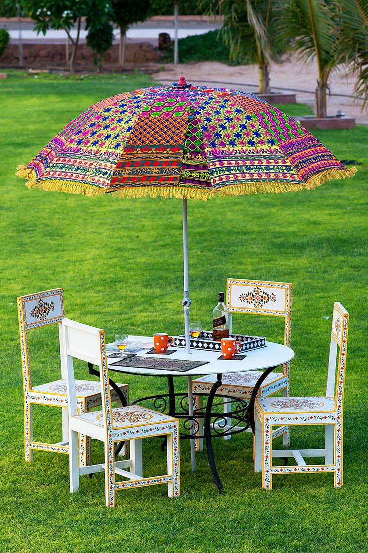 Buy Online Garden Umbrella with Free Shipping from From India Rajasthan-Colour Umbrella Work