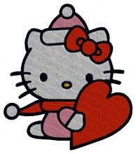 Christmas Kitty embroidery design - Machine Embroidery Designs