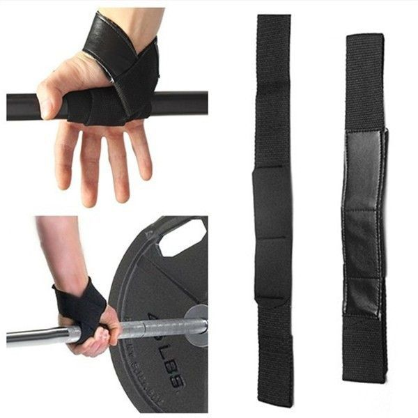 Free Shipping Black Wrist Support Gloves Wraps Hand Grips Bar Straps for Weight Lifting Gym Power Training Workout Exercise