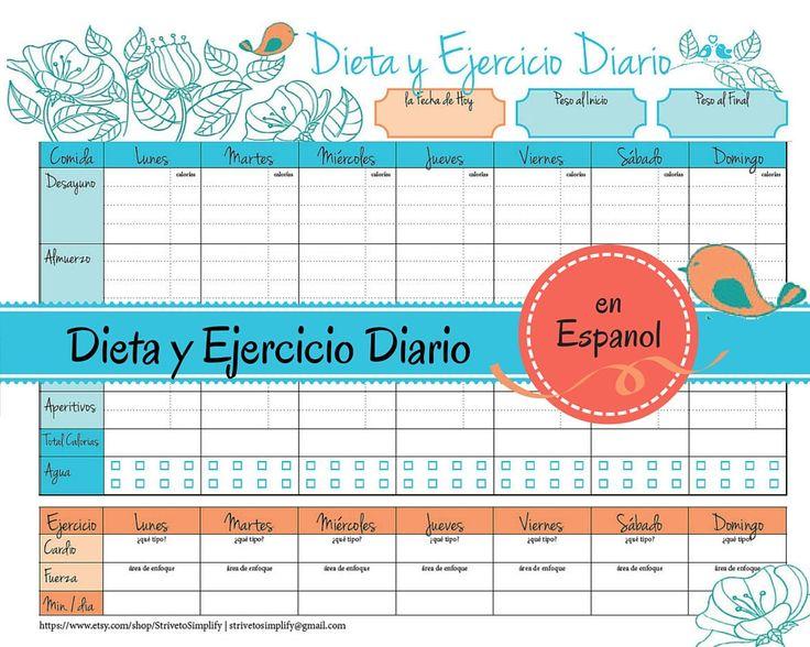 Weight Loss Journal en Espanol | Food Diet Exercise Log in ...