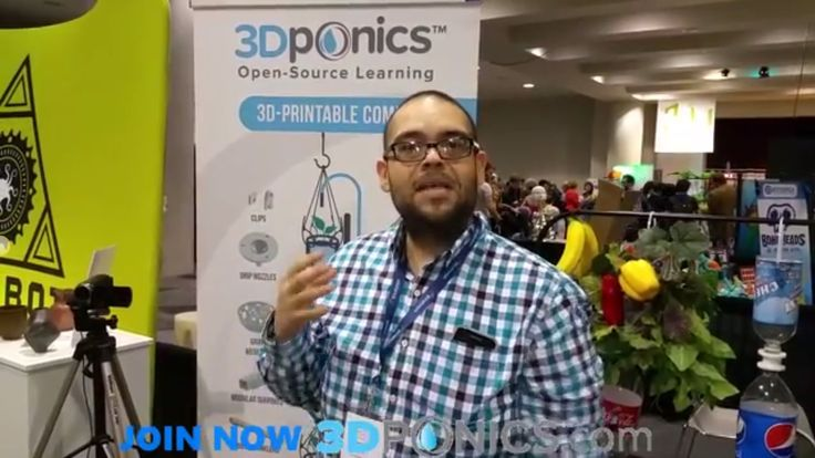Science teacher testimonial for 3Dponics from the 3D Print Design Show in NYC, April 16-17, 2015. #3Dprinting #design #NYC