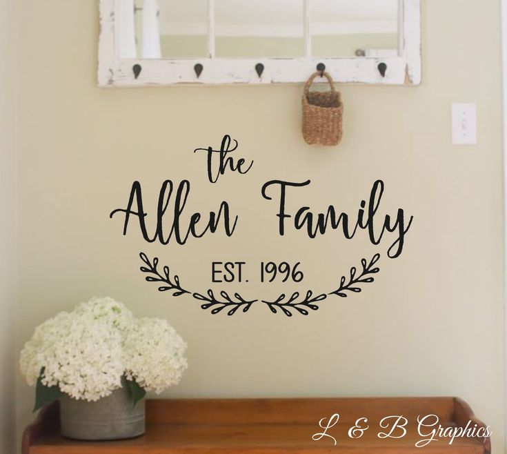 Vinyl Welcome Family Wall Art Large Mirrors And Wall Shop D