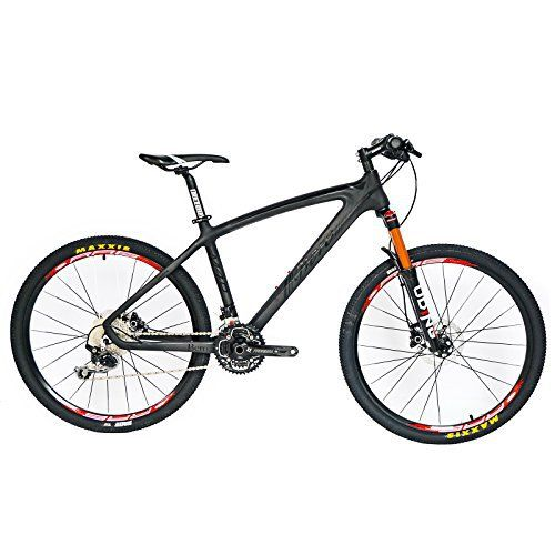 BEIOU® Carbon Fiber Mountain Bike Hardtail MTB 10.65 kg SHIMANO M610 DEORE 30 Speed Ultralight Frame RT 26 Professional Internal Cable Routing Toray T800 Carbon Hubs Matte CB024A (Black, 21-Inch) - http://www.bicyclestoredirect.com/beiou-carbon-fiber-mountain-bike-hardtail-mtb-10-65-kg-shimano-m610-deore-30-speed-ultralight-frame-rt-26-professional-internal-cable-routing-toray-t800-carbon-hubs-matte-cb024a-black-21-inch/