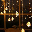 Curtain Lights, AGPtek 120LED 9.84ft 8 Modes Window Ball Linkable String Light LED Wedding Lights for Garden/Wedding/Party/Window Decorations/Home - Warm White