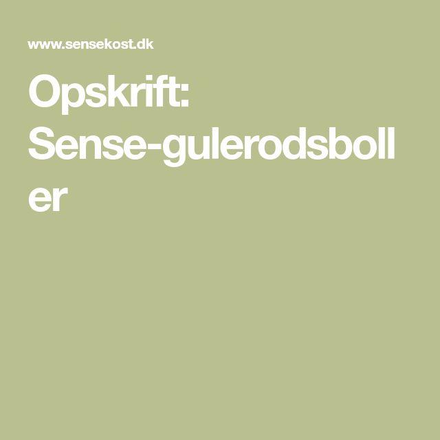 Opskrift: Sense-gulerodsboller