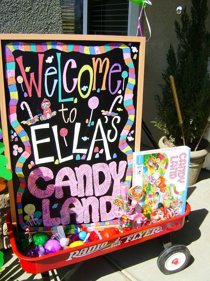candyland: Birthday Parties, Candyland Birthday, Candyland Parties, Chalk Markers, Candyland Theme, Candyland First Birthday, Candy Land, Bright Colors, Birthday Ideas