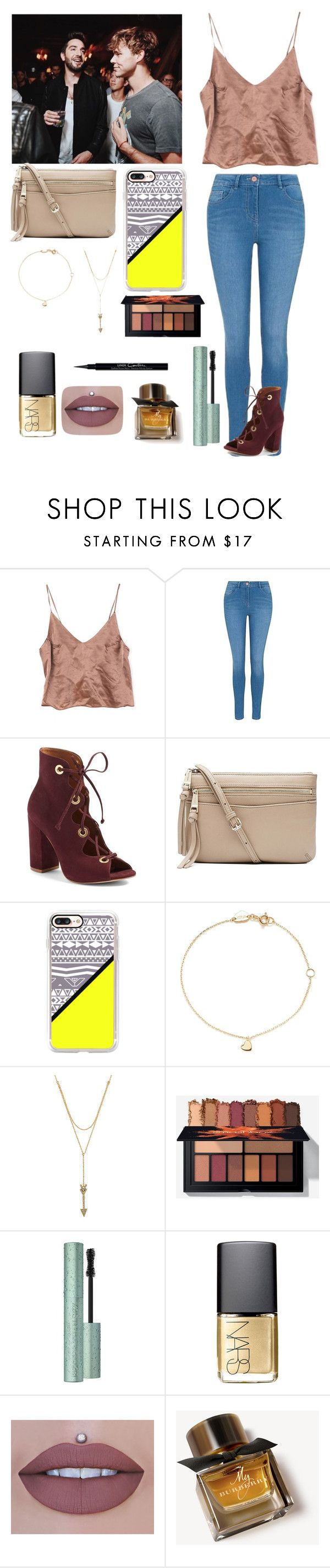 """""""Meeting all of Ashton friends"""" by joelene-garcia ❤ liked on Polyvore featuring George, Steve Madden, Witchery, Casetify, Estella Bartlett, Rebecca Minkoff, Too Faced Cosmetics, NARS Cosmetics, Burberry and Givenchy"""