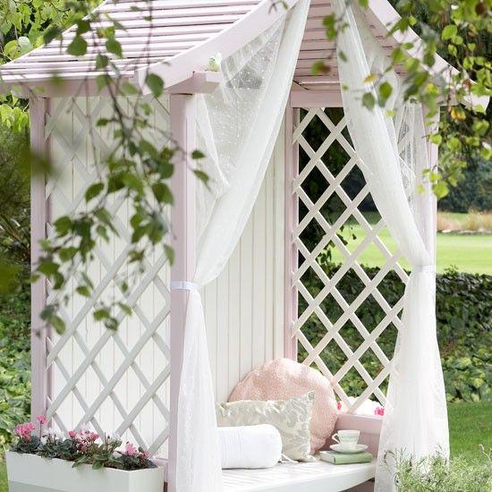 Country garden arbour