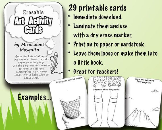 29 Erasable Art Activity Cards by Miraculous by miraculousmosquito, $6.00