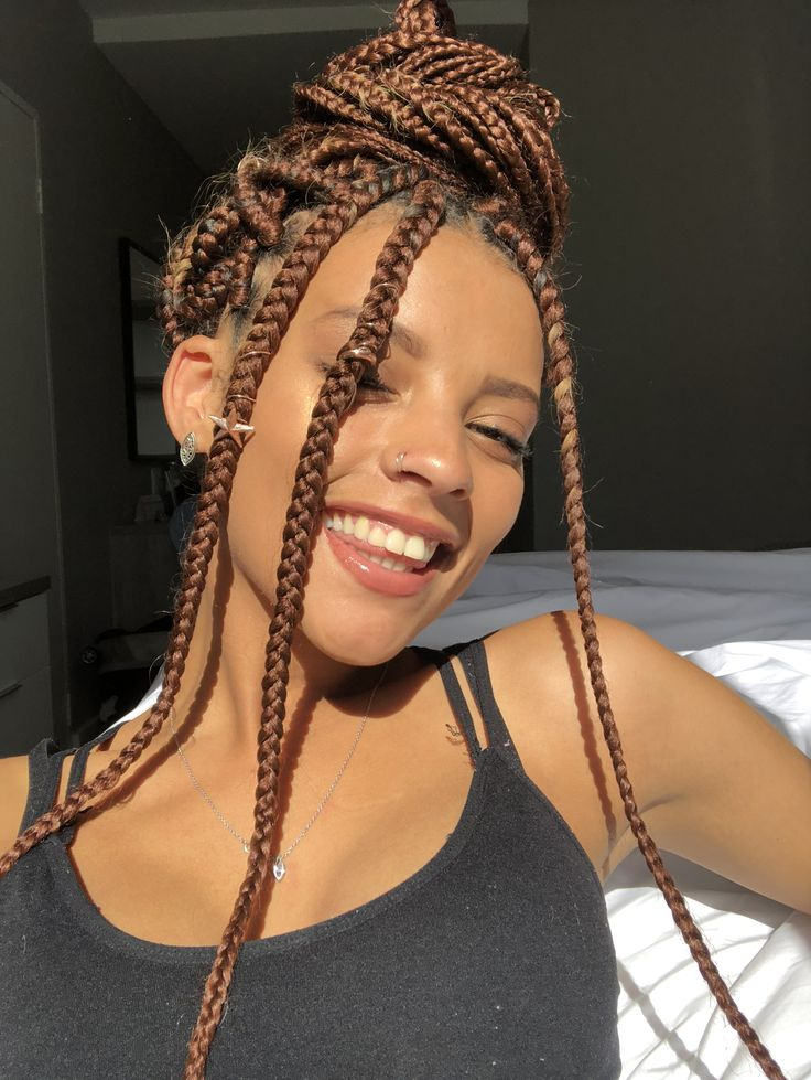 Box Braids Highlight Brown Skin Cabelo Com Tran 231 A