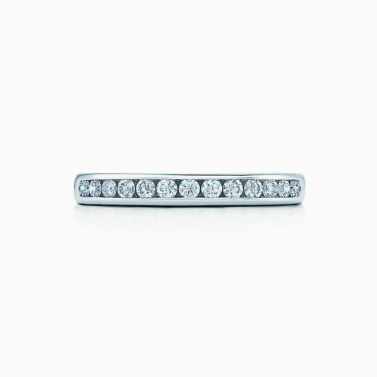 Tiffany® Diamond Wedding Band in platinum, 2.5 mm wide.