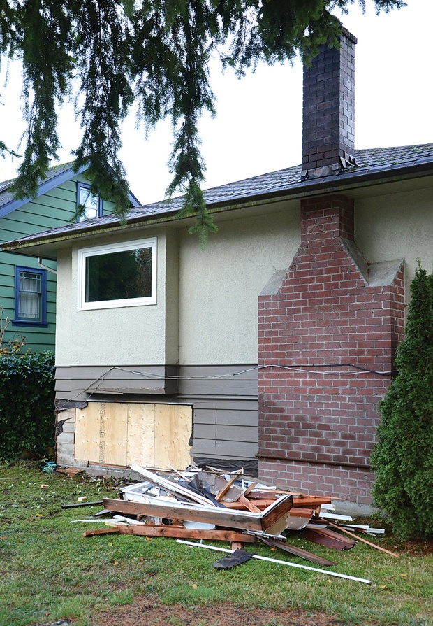 A 72-year-old man died in hospital Dec. 3 after his car veered into a home in the 1700-block of Jones Avenue in North Vancouver. Police say it appears he suffered from a medical emergency before the crash.
