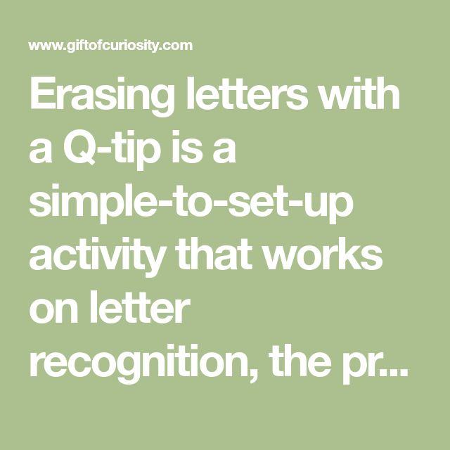 The 25 best letters with q ideas on pinterest q learning trace erasing letters with a q tip is a simple to set up fandeluxe Choice Image