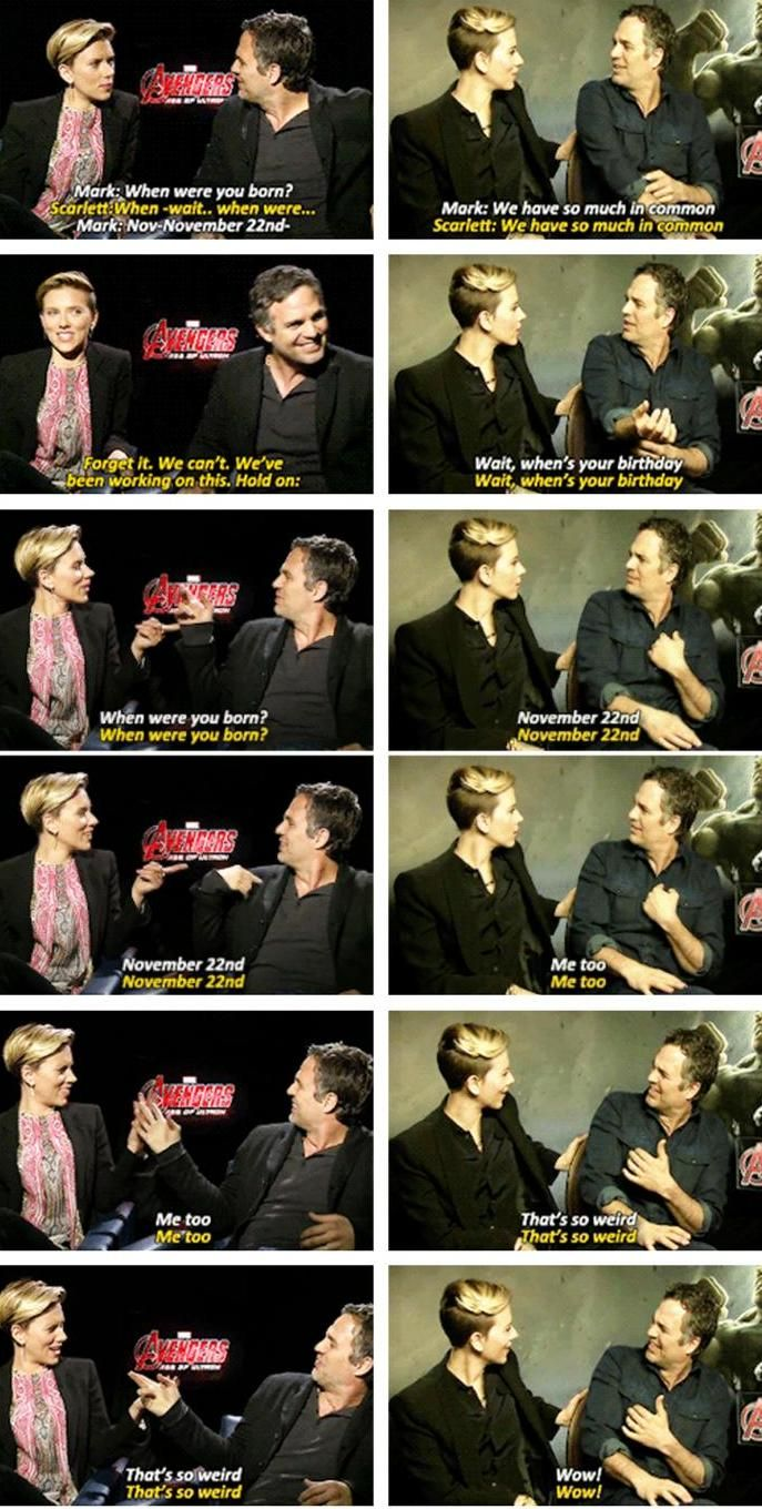 Scarlett Johansson's and Mark Ruffalo's Joined Birthdays >> They were so cute and so funny the whole interview!
