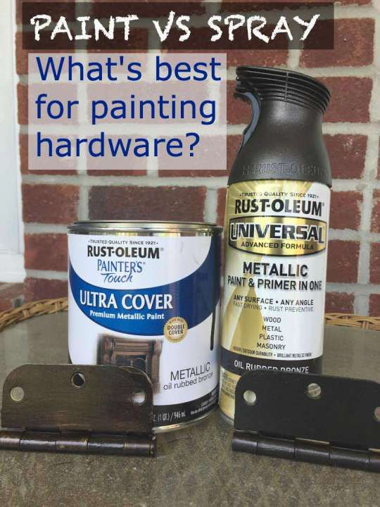 spray versus paint brass door knobs and hardware two easy projects. Black Bedroom Furniture Sets. Home Design Ideas