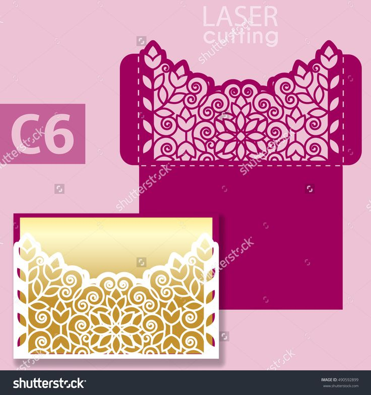 Laser Cut Wedding Invitation Card Template Vector. Wedding Invitation Or Greeting Card With Abstract Ornament. Open Card. Suitable For Greeting Cards, Invitations, Menus. - 490592899 : Shutterstock