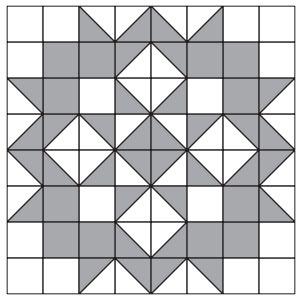 "Moda Love Pattern xxxx http://www.unitednotions.com/Moda-Love-Layer-Cake-Quilt.pdf Layer Cake HST's makes a 9.5"" block. Quilt is 72"" x72, """