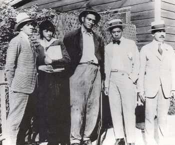 African Americans were largely ignored by major motion picture studios in the first two decades of the 20th Century. Here, we see the staff of what is considered the first all-black movie production unit in the U.S. -- the Lincoln Motion Picture Company (founded by brothers Noble and George Johnson in 1916 in Omaha, NE). http://www.blackpast.org/?q=aah/lincoln-motion-picture-company