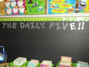 Getting started with Daily 5 in a 2nd grade classroom.