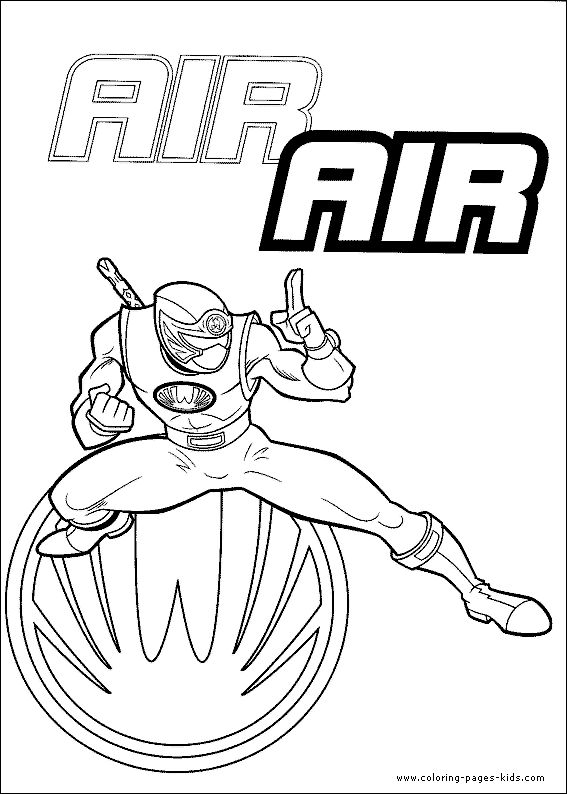 air ninja power ranger coloring page for boys - Blue Power Rangers Coloring Pages