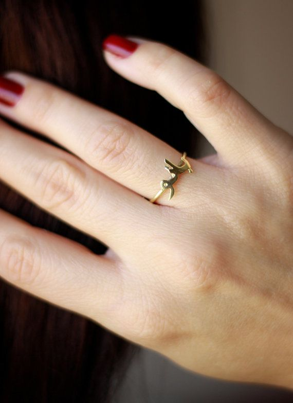 Sterling Silver Arabic Ring Tiny Gold Arabic Name by deiajewelry