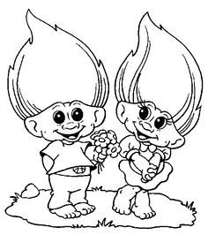 troll coloring pages troll coloring pages for kids print and color the pictures - Colouring Pages For Kids Disney
