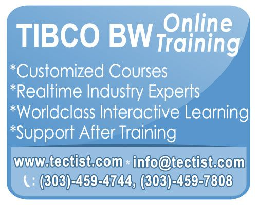 TIBCO BUSINESS WORKS: Online Training by real time professionals. http://www.tectist.com/tibco-online-training.html #tibcoonlinetraining #tibcobwtraining #tibcobusinessworks