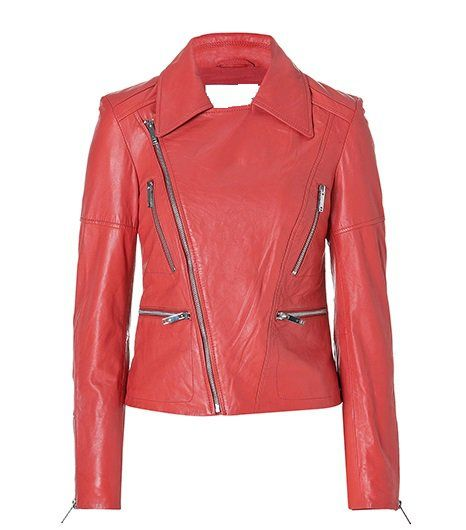 NWT Women's Boyfriend Style Motorbike Leather Jacket Style FS-176