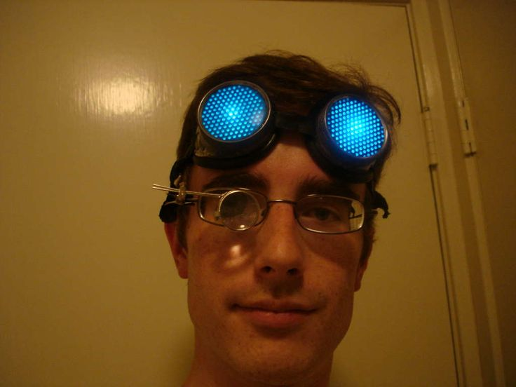 Brilliant tutorial for making LED glowing steampunk goggles. These would be great for a mad scientist too.