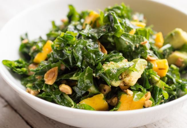 Kale Salad with Avocado & Mango