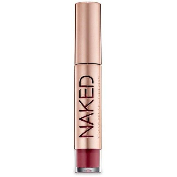 Urban Decay  Naked Ultra Nourishing Lipgloss ($20) ❤ liked on Polyvore featuring beauty products, makeup, lip makeup, lip gloss, urban decay lip gloss, lip gloss makeup, glossier lip gloss, shiny lip gloss and lip shine