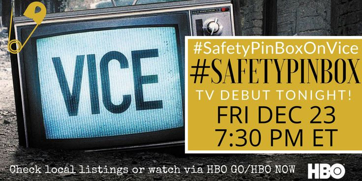 There is a brand new Subscription Box in town, #SafetyPinBox. Safety Pin Box made its TV debut on #ViceNews which airs on #HBO, check your local cable listings to see when it is set to re-air. Additionally, the episode dated 12/23/2016, featuring  #SafetyPinBoxOnVice is avail to subscribers of HBO-On-Demand.  #ViceNews recently made it's debut, airing M-F at 7:30pm EST on HBO, in association w/ #BillMaher & #VICE.