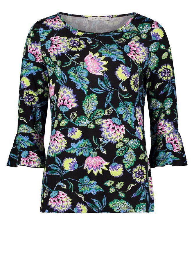 Betty Barclay Shirt mit Volantärmel und Allover-Print für 25,99€. Muster 91aacc5c27
