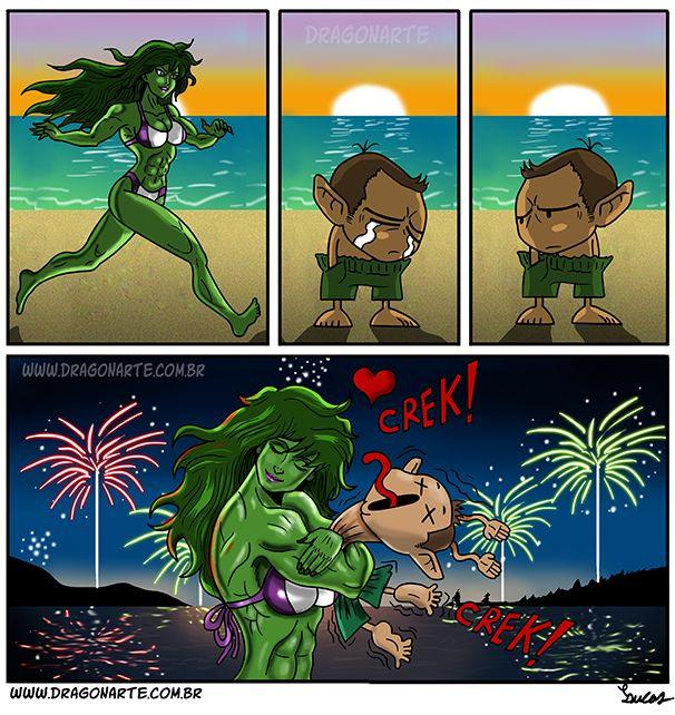 "Free Comic Book Day Hulk Heroclix: ""The Sad Valentine's Day Guy Realizes That She-Hulk Loves"