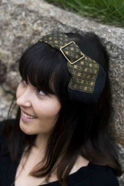 A thrifted silk tie can become a headband: