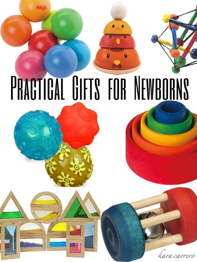 Practical Christmas gifts for newborns, infants, and babies. What to buy that will last for years and aid in their development.