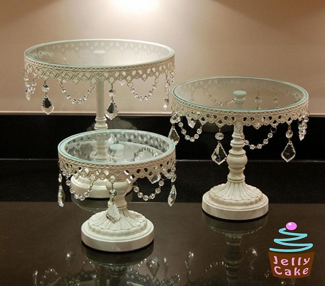 Crystal Cake Stands by www.jellycake.co.uk, via Flickr