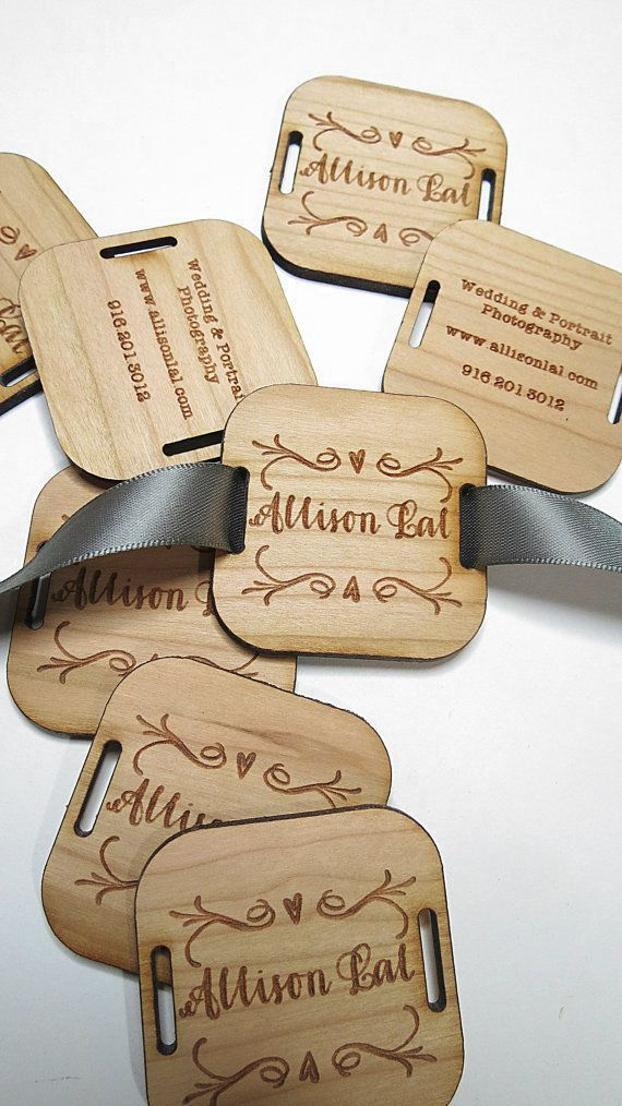 100 2 x 2 Custom Wood Tags Custom Engraved Tags << #craftylaser #sewing #project For knitting project bags, on the handle