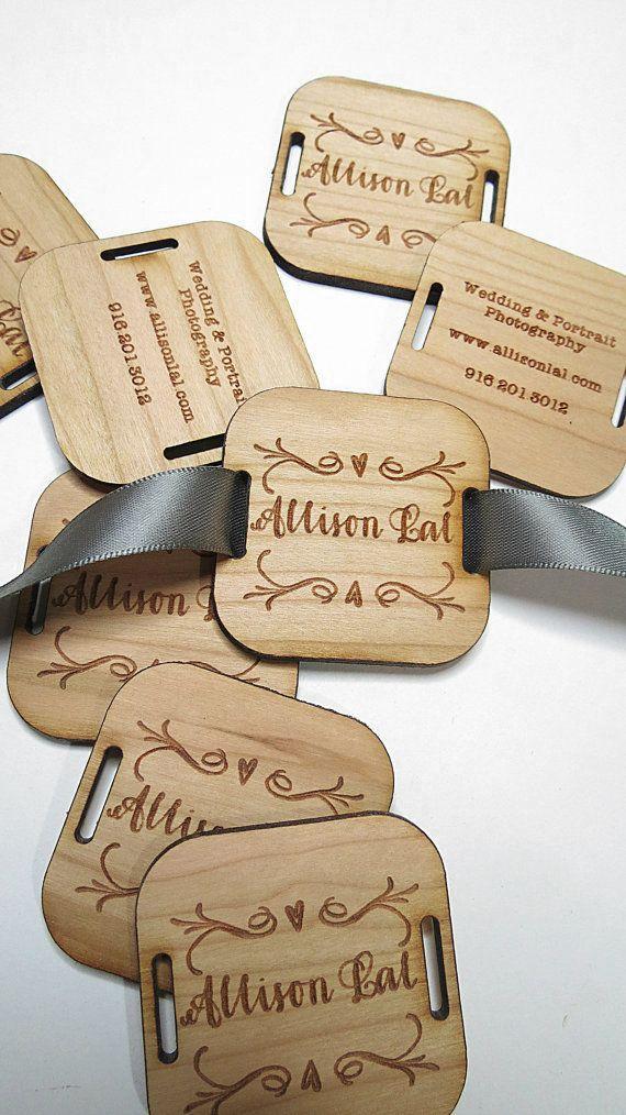 100 2 x 2 Custom Wood Tags Custom Engraved Tags