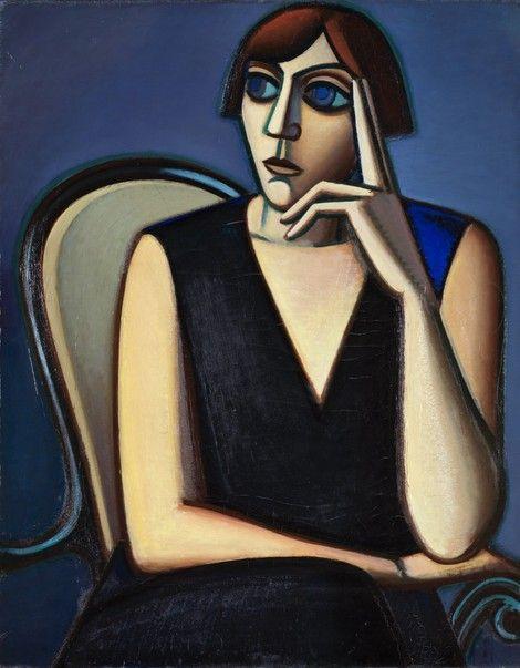 Vilhelm Lundstrøm, Portræt af Tusnelda Sanders,1928