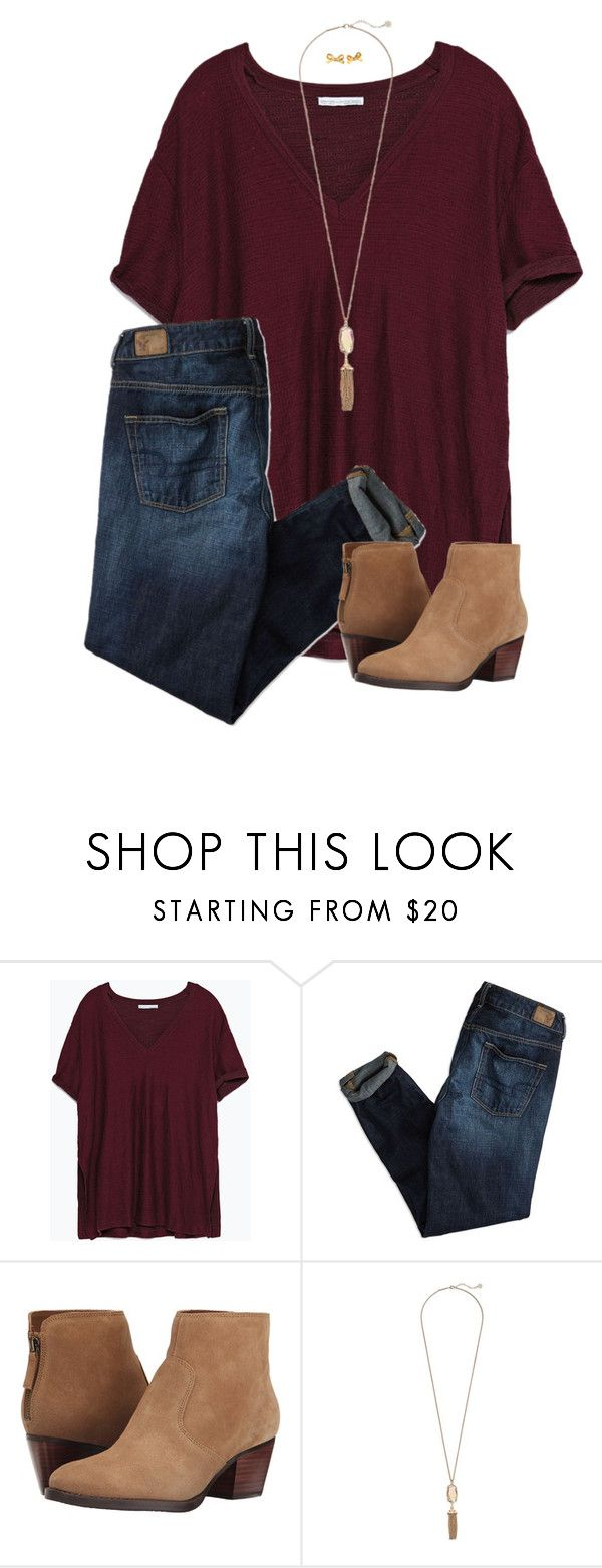 """maroon 5"" by apocketfullofprep ❤ liked on Polyvore featuring Zara, American Eagle Outfitters, Nine West, Kendra Scott and Kate Spade"
