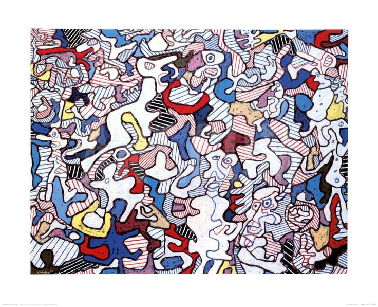 Family Life, August 10, c.1963 Art Print by Jean Dubuffet at Art.com