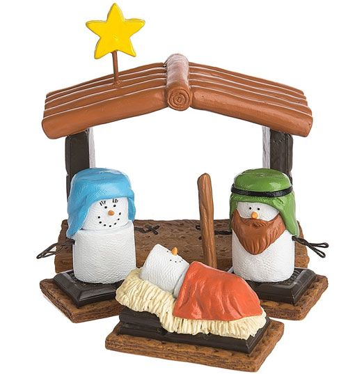 S'mores Original set of 4 Nativity. New 2017 Colors and design has changed from the one released years ago. It's BACK!! Thanks Midwest CBK.