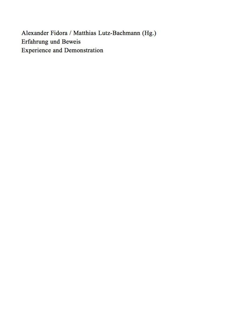 Erfahrung und Beweis. Die Wissenschaften von der Natur im 13. und 14. Jahrhundert (eBook) – VitalSource®